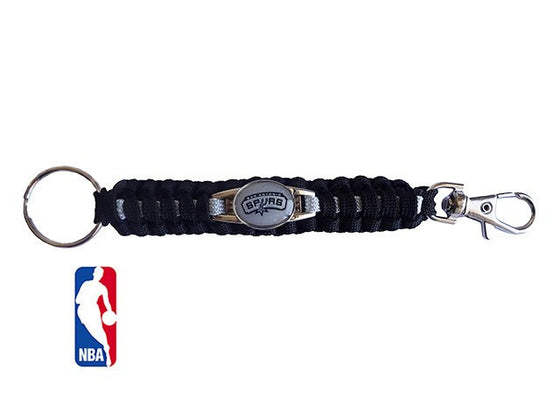 Officially Licensed NBA San Antonio Spurs Paracord Keychain
