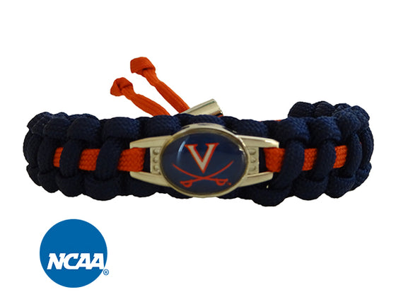 Officially Licensed Virginia Cavaliers Paracord Bracelet