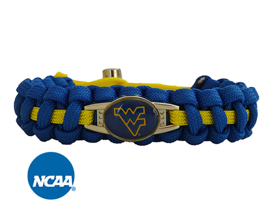 Officially Licensed West Virginia Mountaineers Paracord Bracelet
