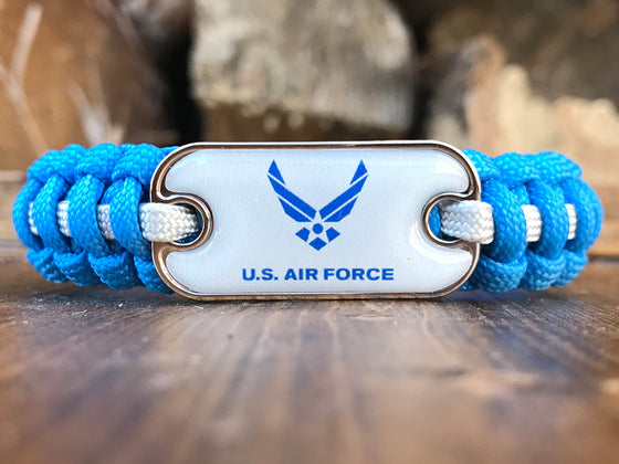 Air Force Dog Tag Paracord Bracelet
