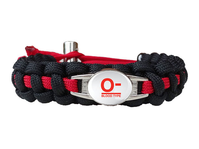 Blood Type Medical ID Bracelet