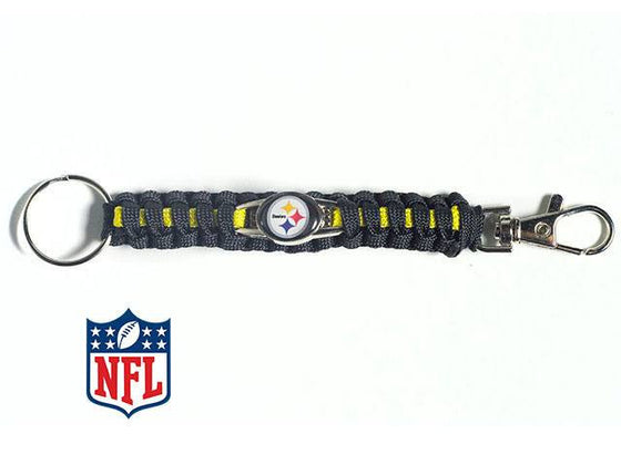 Officially licensed Pittsburgh Steelers NFL Paracord Keychain