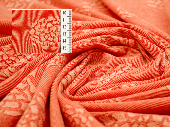 Cotton/Nylon - Starfish Orange Jacquard