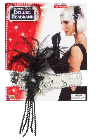 Flapper, Headband with Feather