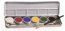 Primary Creme Color Make-up Face Painting Palette