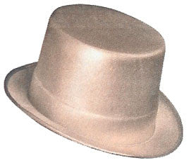 Silver Theatrical Top Hat