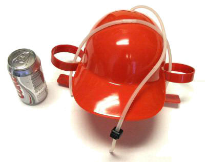 Beer Can Holder Party Hat - Various Colors