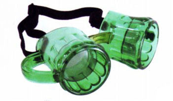 Green Beer Goggle Glasses