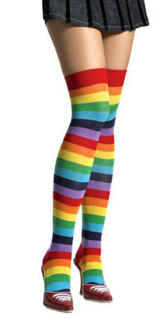 Rainbow Thigh High Tights