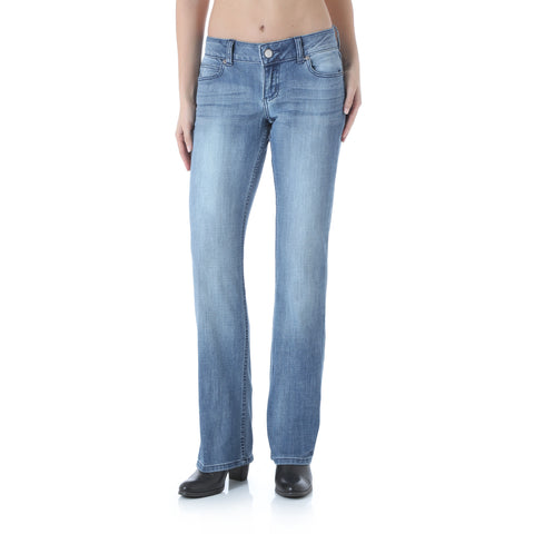 Wrangler Womens Medium Blue Cotton Blend Jeans