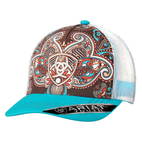 Ariat Multi-Color Youth Vintage Paisley Baseball Cap
