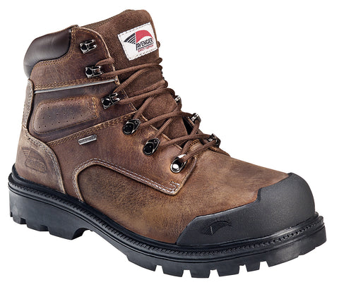 Avenger Mens Steel Toe EH Puncture Resistant WP Boot M Brown Leather