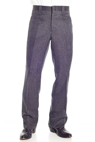 Circle S Mens Charcoal Polyester Western Unhemmed Ranch Dress Pant