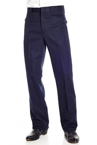 Circle S Mens Navy Polyester Solid Dress Ranch Pant Western