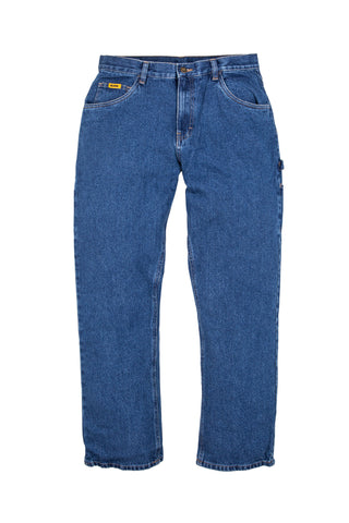 Berne Mens Stone Wash Dark 100% Cotton Relaxed Carpenter Jean