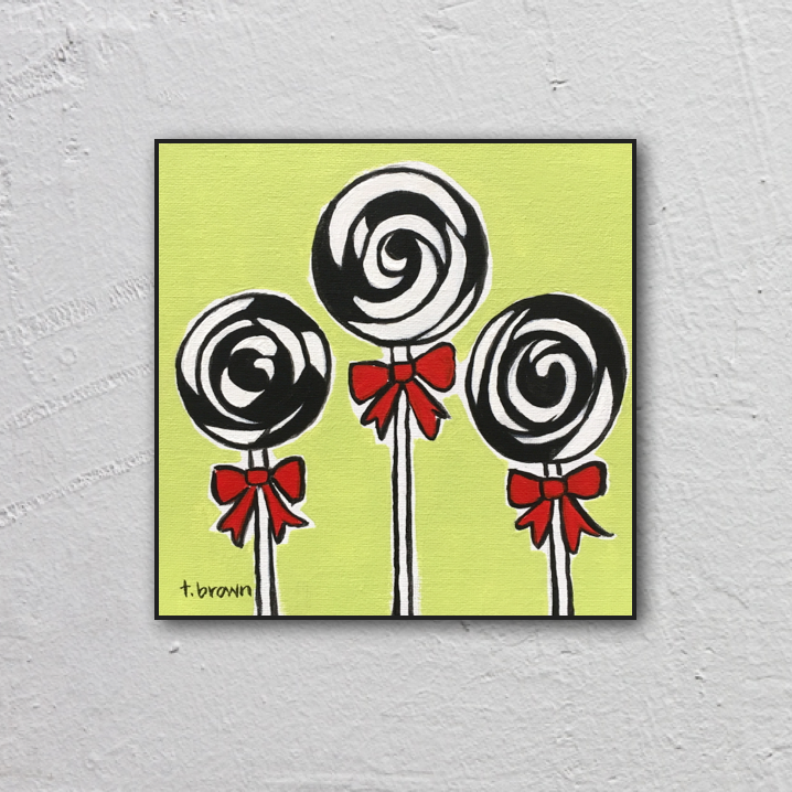 lolly. lolly. lolly. 8x8 painting.