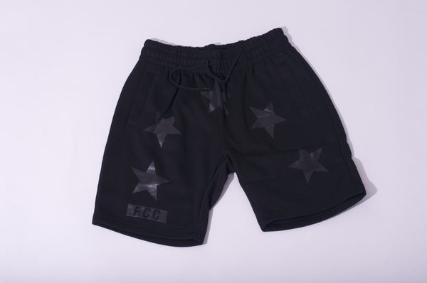 FCC GIVENCHY INSPIRED SHORTS IN BLACK ON BLACK