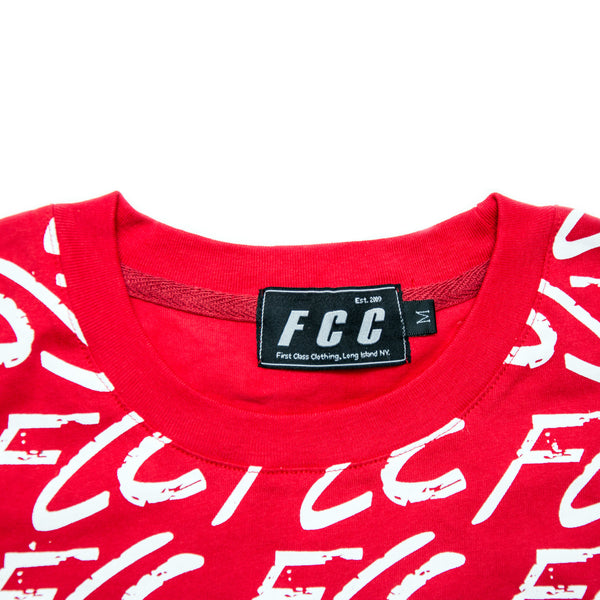 FCC GRAFFITI TEE RED