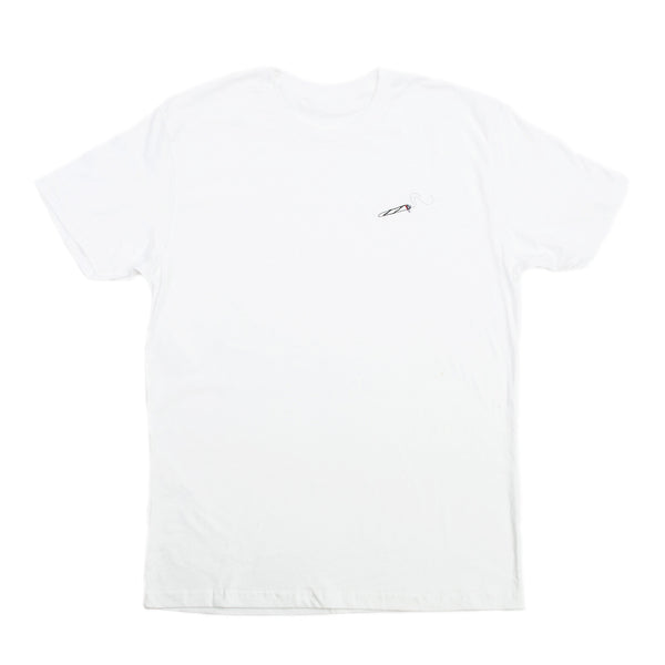 4/20 JOINT EMBROIDERED TEE WHITE