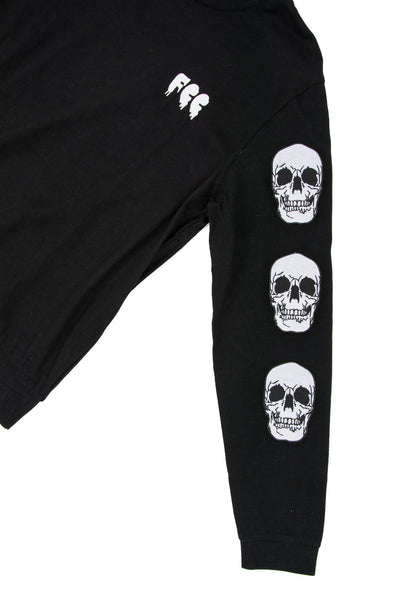 FCC SKULL CREW NECK SWEATSHIRT IN BLACK