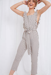 Effie Ruffle Jumpsuit - Polka Dot, Jumpsuit - Pretty Lavish