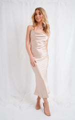 Keisha Slip Dress - Champagne, Dress - Pretty Lavish