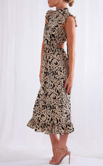 Hattie Backless Dress - Leopard, Dress - Pretty Lavish