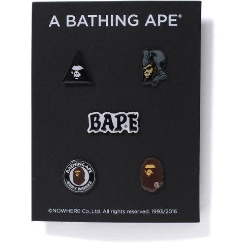 A BATHING APE Ape Pins Set