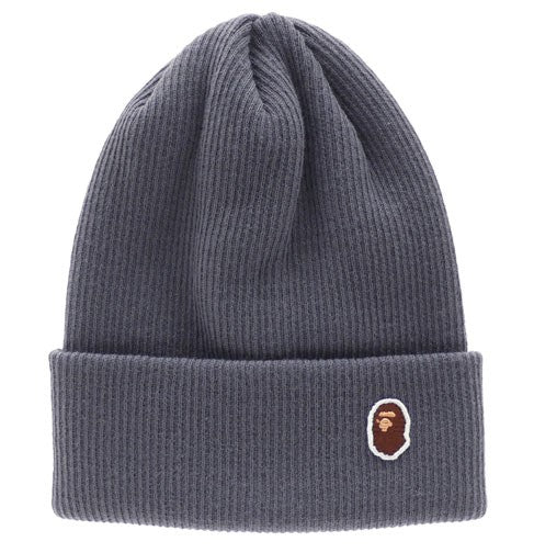 "A BATHING APE BAPE ""GREY"" BEANIE"