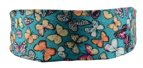 Butterflies Scarf Headband-Teal Blue