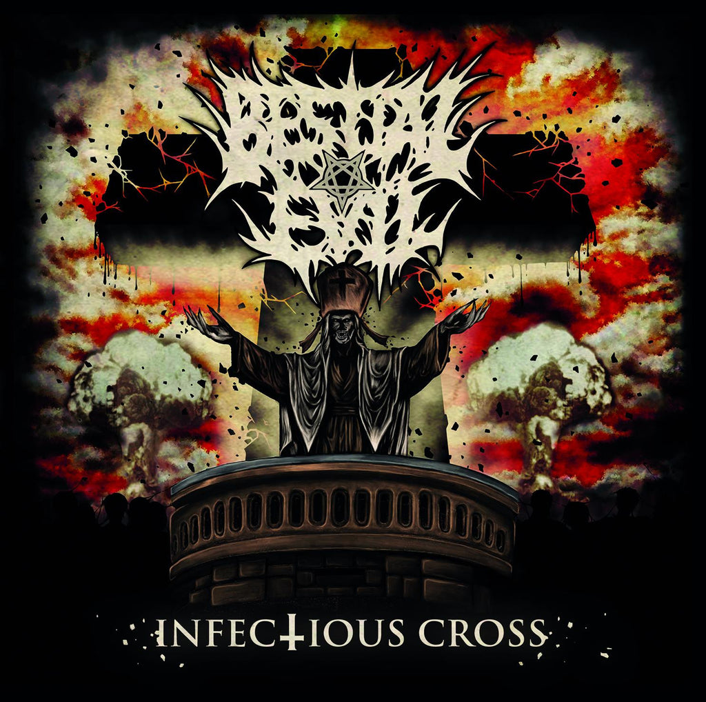 Bestial Evil- Infectious Cross CD on Lost Apparitions Rec.