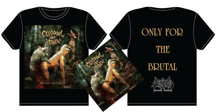 CESSPOOL OF VERMIN- Beastial Necrophilia CD / T-SHIRT PACKAGE SMALL OUT NOW!!!