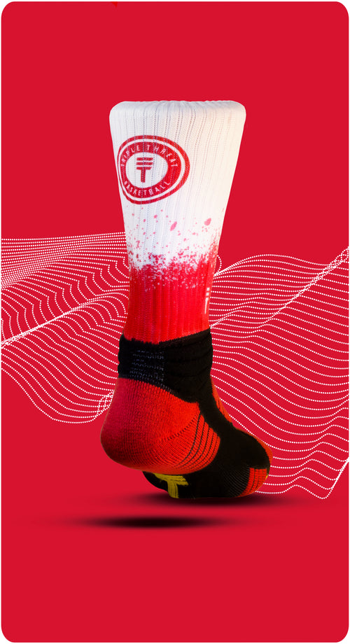Cush 360 fade sock Red/White