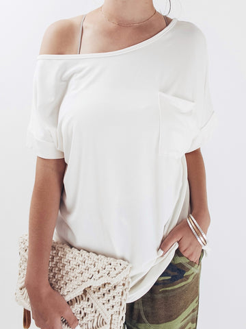 Oversized Off The Shoulder Tee