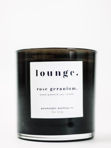 Goodnight Darling Co. Rose Geranium Wooden Wick Candle