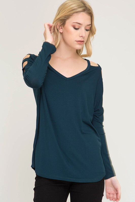 Strappy Long Sleeve Tee