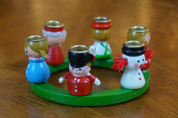 Holiday Wood Toy Candle Holder
