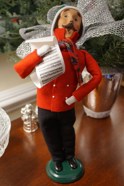 Caroling Man with Sheet Music