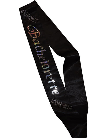 Bachelorette Sash with Clear Stones