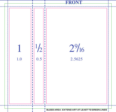 50 Professionally Printed 3-Panel J-Cards - Double Sided w/ Scoring