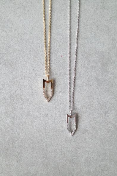 Crystal Arrow Necklace