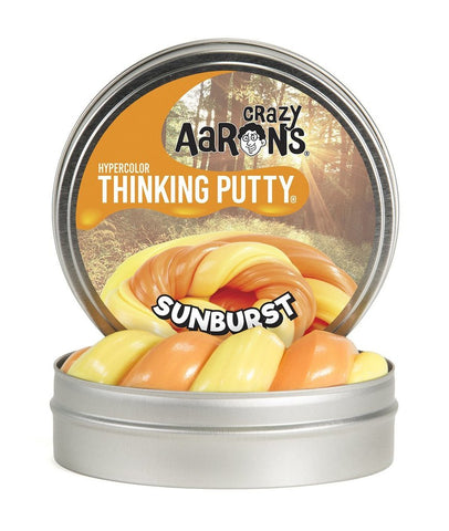 "2"" Sunburst- Hypercolors- Crazy Aaron's Thinking Putty - Color Changing Mini Tins"