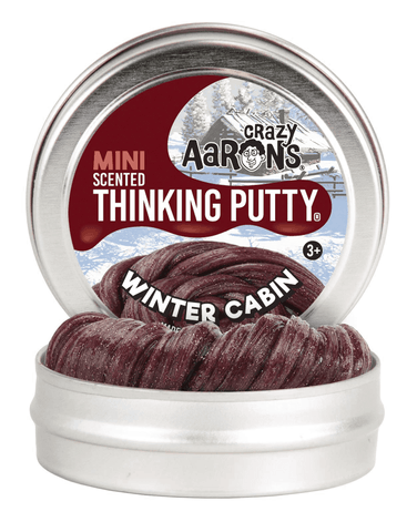 "2"" Winter Cabin - Scented holiday putty by Crazy Aaron's Thinking Putty"