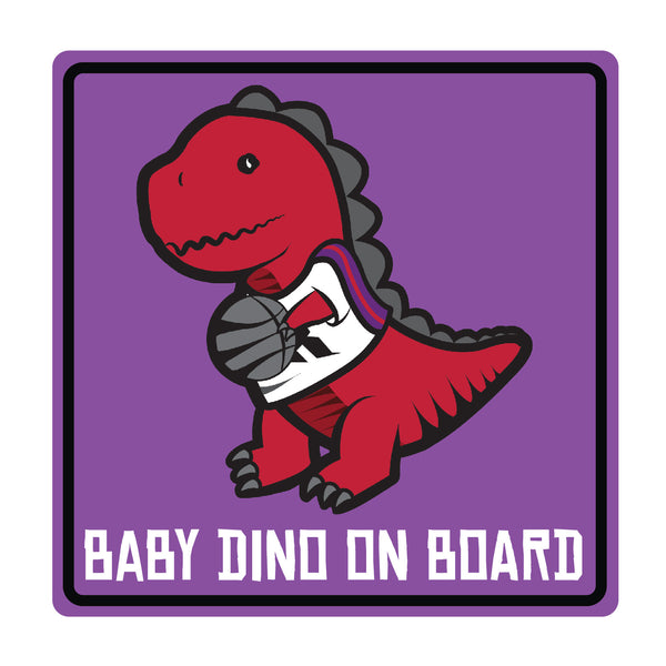 Baby Dino on Board Square Decal (2 Pack)