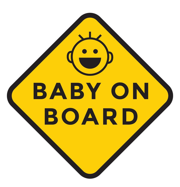 Happy Baby on Board Car Decal (Two Pack)