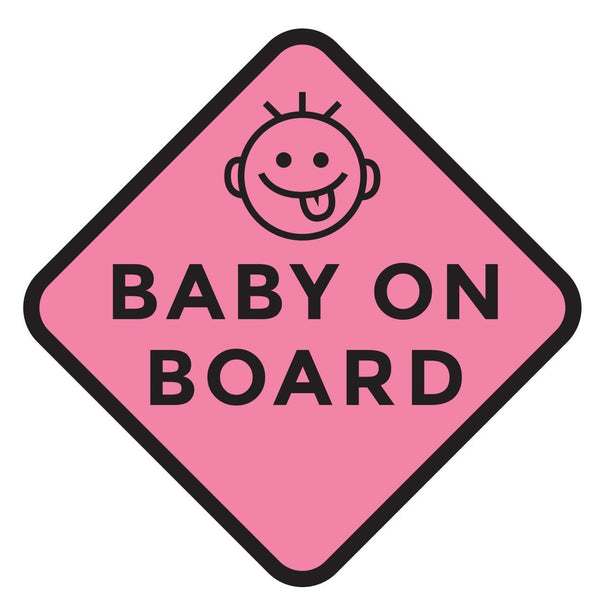 Silly Pink Baby on Board Car Decal (Two Pack)