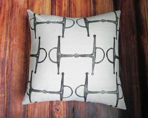 Full Cheek Bit Equestrian Pillow