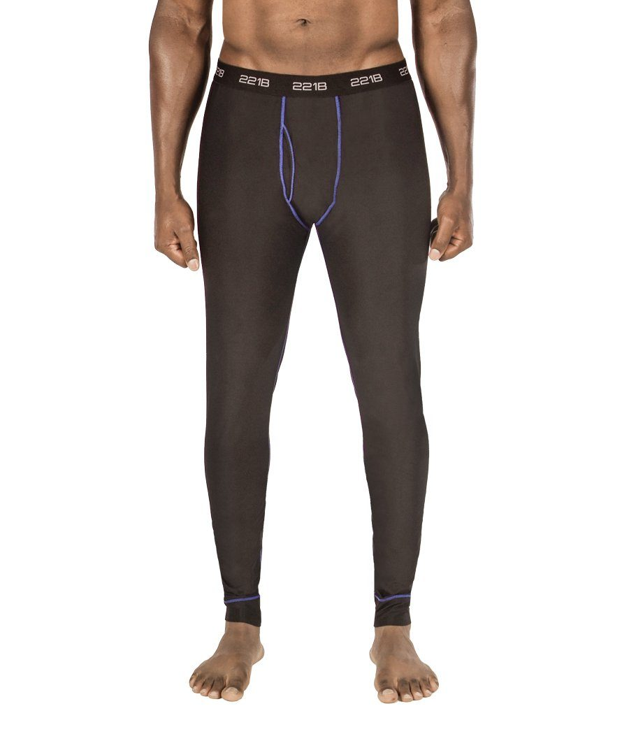Maxx-Dri Silver Elite Long Underwear Apparel 221B Tactical S Black with Blue Line Single Pack