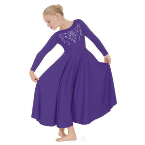 Eurotard 11024C Purple Regning Cross Praise Dress