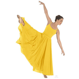 Eurotard 13674 Triple Panel Lyrical Skirt - Adult yellow